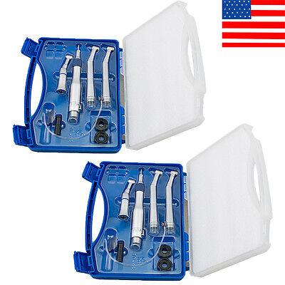 2pcs Fit Nsk Turbine Dental Low High Speed Handpiece Kit Push Button 2 Hole Box