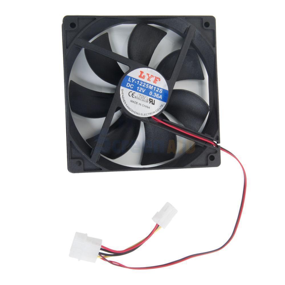 New 4Pins 120mm IDE Chassis Fan Cooling For Computer PC Desktop Host DC Fan Computer Case Fans