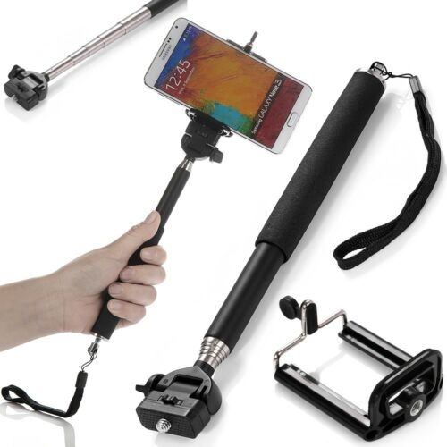 extendable handheld telescopic monopod holder w bluetooth shutter iphone came. Black Bedroom Furniture Sets. Home Design Ideas