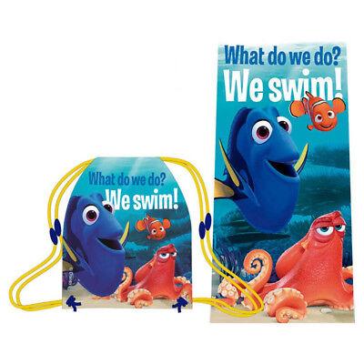 Findet Nemo Dori Sporttasche Tasche Sportbeutel+Handtuch Badetuch Kinder Disney ()