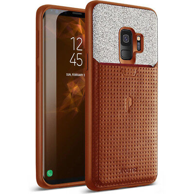 Case For Samsung Galaxy S9 Poetic【Nubuck】Credit Card Slot Pull-Tab Case Brown for sale  Shipping to India