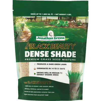 Jonathan Green 10600 Black Beauty Dense Shade Grass Seed Mixture, 3 Lb (Dense Shade Grass Seed)