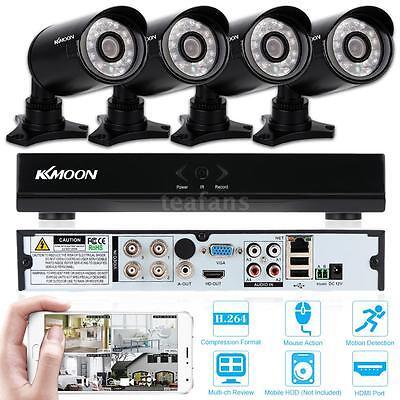 Videoüberwachung Set AHD 1080N/720P 800TVL mit 4x Aussen Überwachungskamera DHL