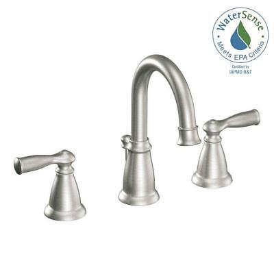 MOEN Banbury 8 in. Widespread 2-Handle High-Arc Bathroom Faucet - (High Arc Widespread Lavatory Faucet)