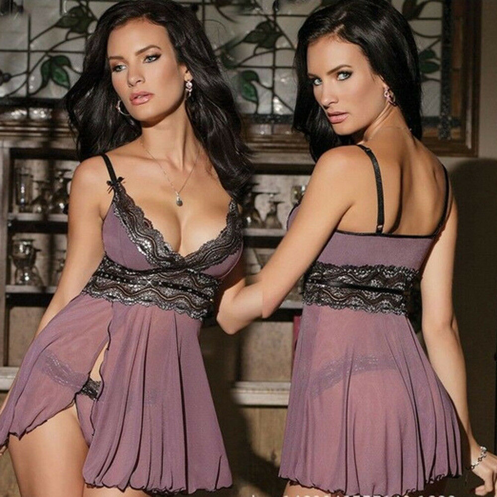 sexy lingerie sexy femmes sous v tement chemise de nuit g string e eur 4 53 picclick fr. Black Bedroom Furniture Sets. Home Design Ideas