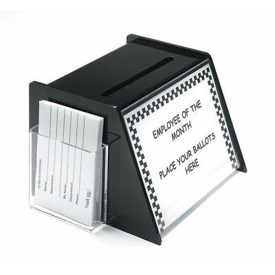 Suggestion Box Donation Box Ballot Box Black Plastic - 10l X 9 12w X 7h
