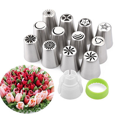 Decor Diy Icing Piping Tips Cake Pastry Flower Nozzles Mold Baking Tools