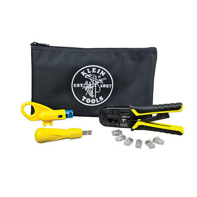 Klein Tools Vdv026-212 Twisted Pair Install Kit With Zipper Pouch