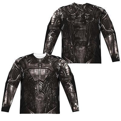 STAR TREK BORG COSTUME Adult Men's Long Sleeve Halloween Tee Shirt - Star Trek Borg Costume