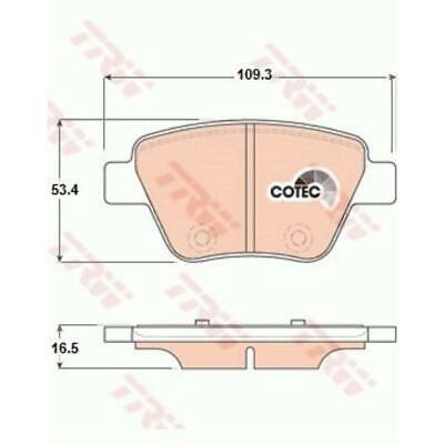 TRW Bremsbeläge GDB1841 Bremsklötze für Audi A3 Sportback 8PA