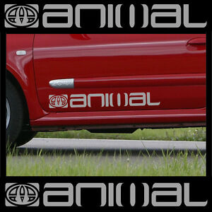 2 x LARGE ANIMAL LOGO car graphic sticker decals | Vinyl camper van surf C