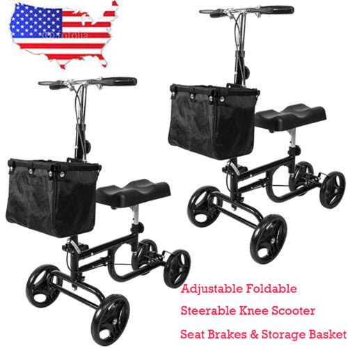 New Adjustable Foldable Medical Steerable Knee Walker Scoote