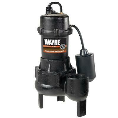 12 Hp Cast Iron Sewage Pump With Tether Float Switch