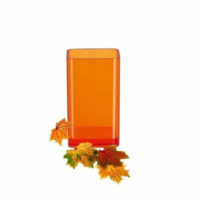 Orange Zahnbürstenhalter (Spirella Cubo Clear Orange Zahnbecher Becher Zahnbürstenhalter Schweizer Marke)