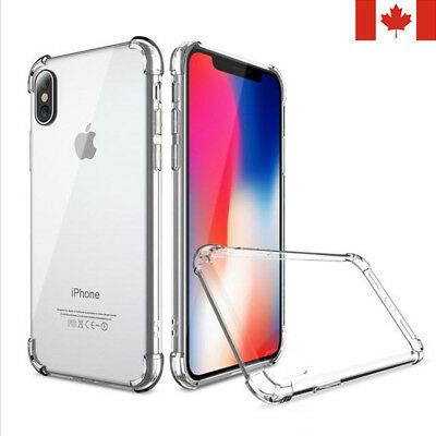 For iPhone 6S 7 8 Plus X XS XR 11- Clear Case Soft TPU Bumper Cover ShockProof