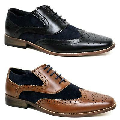 MENS GATSBY SHOES NEW DESIGNER JAZZ SPAT OFFICE PARTY FORMAL BROGUE SHOES SIZE