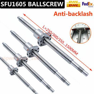 Anti-backlash Rolled Ballscrew Sfu1605 Ballnut 250-1500mm W Mount End Machining
