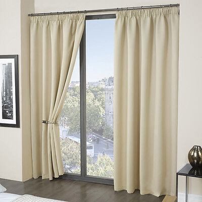 Luxury Thermal Blackout Curtains   Black Cream Pink Blue   Supersoft  Material