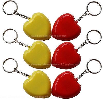 12 CPR Masken KeyChain Mund zu Mund Rescue Shields Mini Herz Box Einwegventil ()
