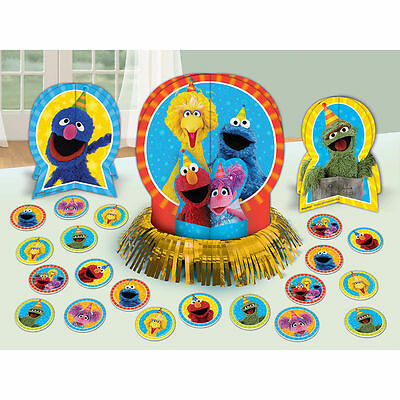 Sesame Street Elmo Table Decorating Kit 23 Piece Centerpiece Party Supplies](Elmo Party Decor)