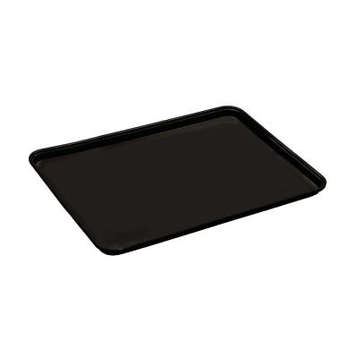 "Cambro Black Fiberglass Market Display Tray - 26""L x 18""W x 1""H (1826MT110)"
