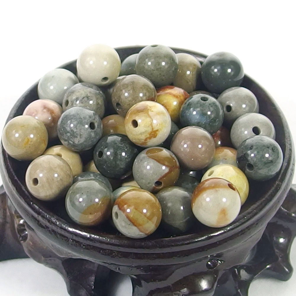 Bulk Gemstones I natural spacer stone beads 4mm 6mm 8mm 10mm 12mm jewelry design ocean jasper