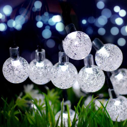 21FT Outdoor String Lights 30 LED Solar Bulb Patio Party Yard Garden Wedding 1