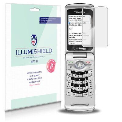 iLLumiShield Anti-Glare Matte Screen Protector 3x for BlackBerry Pearl Flip 8220 Blackberry 8220 Screen Protector
