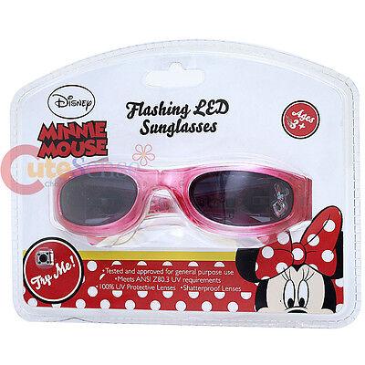 Disney Minnie Maus Kinder Sonnenbrille mit Blinkende Led-Lampen 100% Uv-Schutz