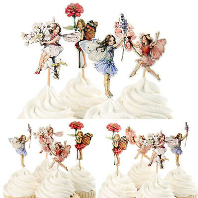 ique Flower Fairy Cupcake Decor Wedding Girls Toppers (Cupcake Party)