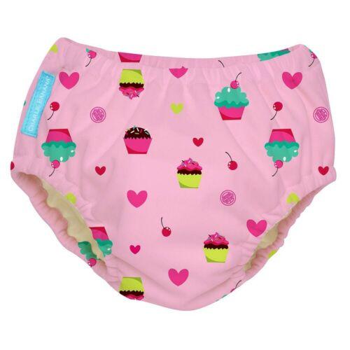 Charlie Banana Reusable Swim Diaper - Size Medium Pink Cupcakes