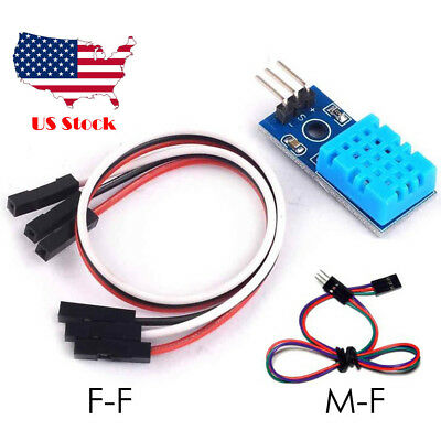 0-60 Degree Temperature And Humidity Sensor Module Arduino Raspberry Pi Cable