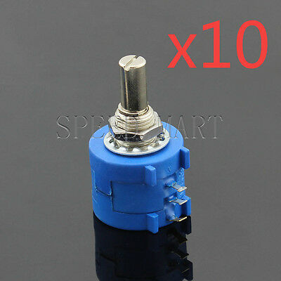 10 X 100 Ohm 3590s-2-101l Rotary Wirewound Precision Potentiometer Pot Multiturn