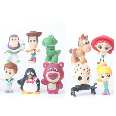10PCS Toy Story Buzz Lighter Woody Jessie Dinosaur Action Figure Cake Topper Toy - Woody Toy Story Jessie