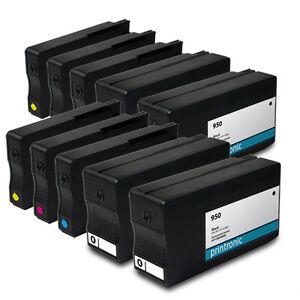 10pk hp 950 hp 951 ink cartridges officejet pro 8600 premium 8620 8630 printers ebay. Black Bedroom Furniture Sets. Home Design Ideas