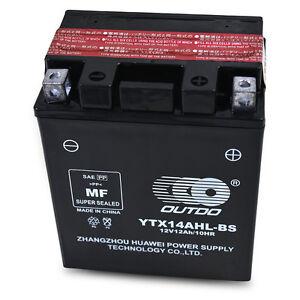 YTX14AHL-BS Battery Kawasaki EX500 KL650 KLR650 VN750 Vulcan ZX750 KZ1000 ZX1000