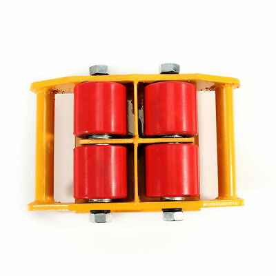 Yellow Heavy Duty Machine Dolly Skate Roller Machinery Mover 360 Rotation 6t