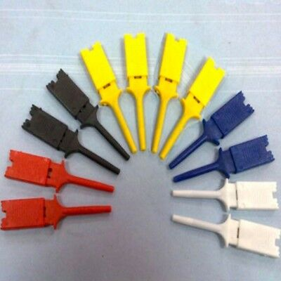 Analyzer Micro 5 Colors Probe 10pcs Mini Grabber Probes Smd Ic Hook Test Clip