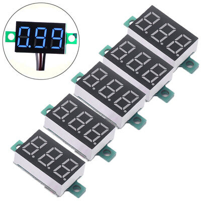 15pcs Mini Blue Dc 3-30v Led Panel Voltmeter 3 Digital Display Voltage Meter