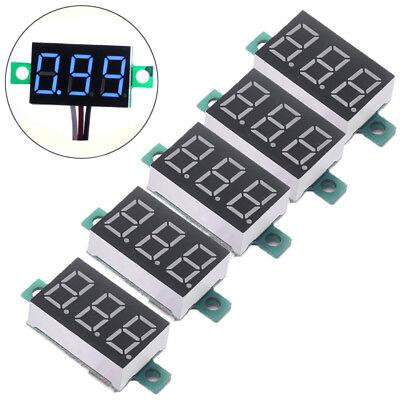 15pcs Mini Blue Dc 3-30v Led Panel Voltmeter 3 Digital Display Voltage Meter