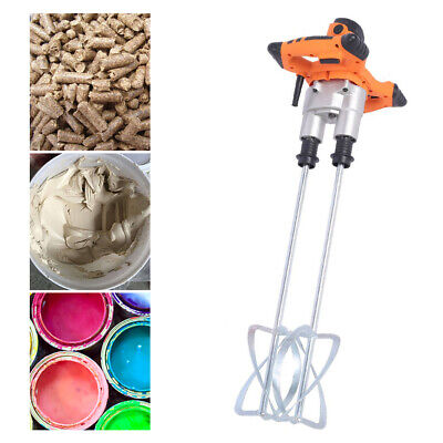 Electric Plaster Cement Adhesive Render Paint Drywall Mortar Mixer Mixing Tool