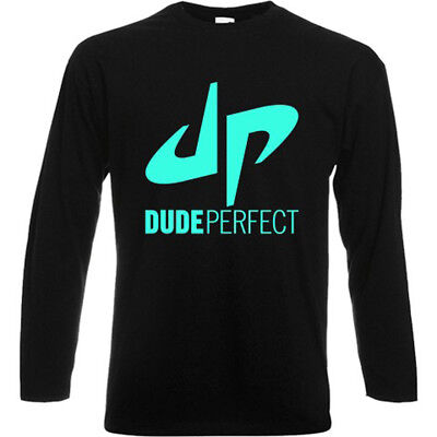 New Dude Perfect Famous Vlogger Long Sleeve Black T-Shirt Size S-3XL - Dude Perfect Shirts