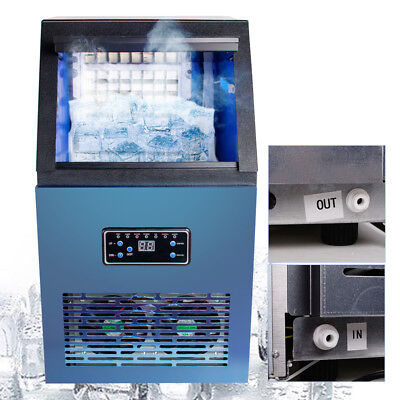Stainless Steel Countertop Ice Maker Compact Cube Icemaker Machine 110lbsday