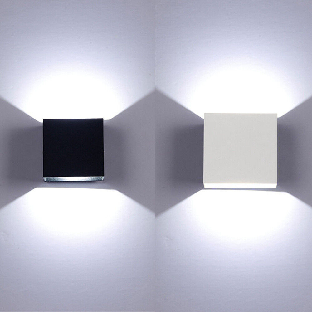 LED COB 12W Wandleuchte Innen Wandstrahler Cube Wand-Lampe Up Down Strahler Bad