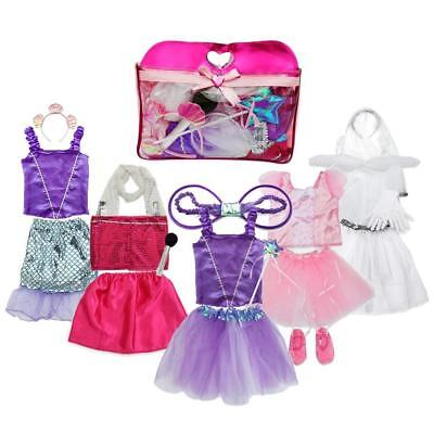 Toiijoy Girls Dress up Costume Set Princess,Fairy,Mermaid,Bride,Pop Star for...  (Fairy Costume For Teens)