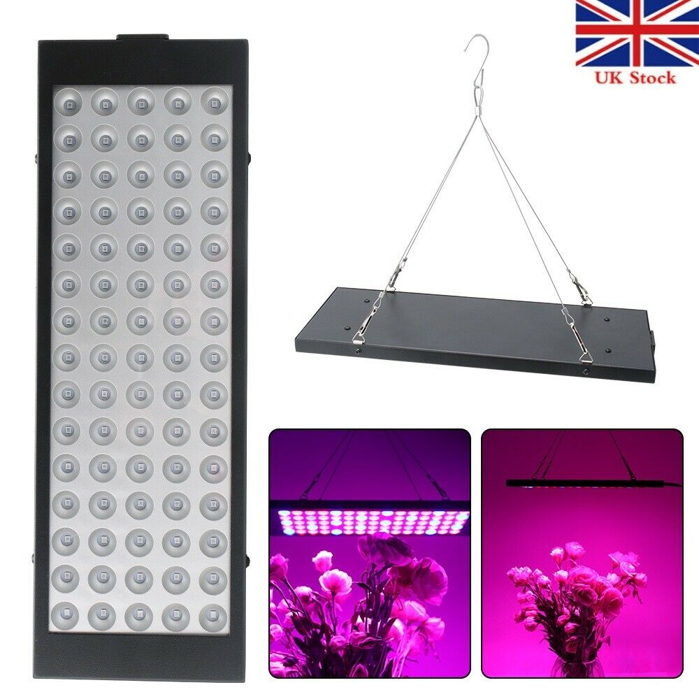 75 LED 300W Grow Light Panel Hydroponic Full Spectrum Indoor Veg Flower Plant IR