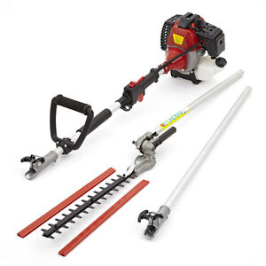 52cc Petrol Long Reach Pole Hedge Trimmer Cutter 3hp Hedgetrimmer Garden Tool