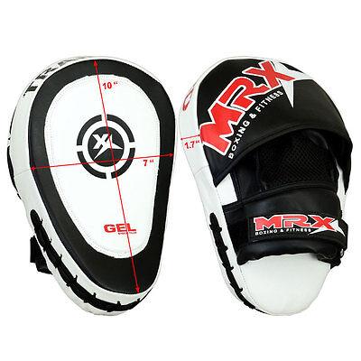 MRX Gel Focus Pad Hook & Jab Mitts Boxing Punch Glove MMA Muay Thai Kick 1 PIECE