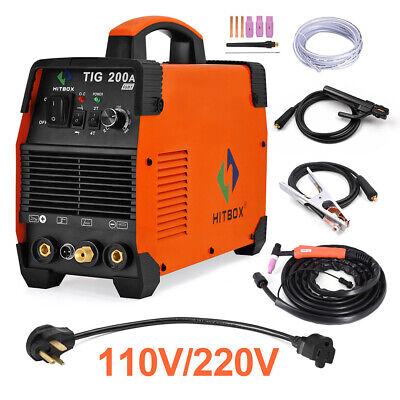 Hitbox Tig 200a Tig Welder 110v200v Igbt Inverter Stick Arc Tig Welding Machine