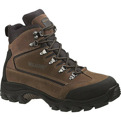 Wolverine boots Mens Spencer Waterproof Mid-Cut Leather Hiking Boot W05103 BROWN